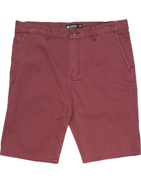 Element Howland Chino Shorts in Oxblood Red