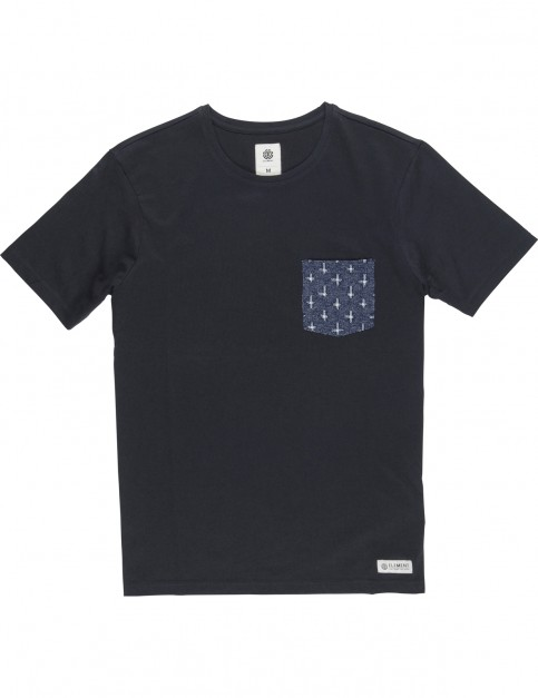 Element Pierce Crew Short Sleeve T-Shirt in Flint Black