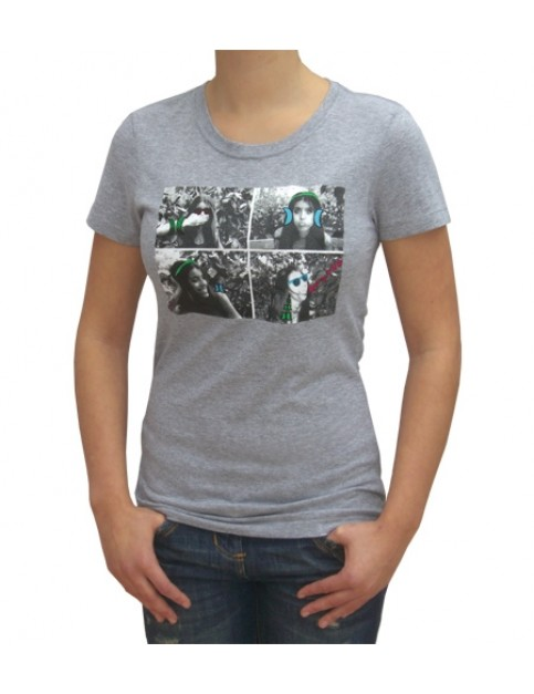 Hurley Athena Perfect Crew Short Sleeve T-Shirt in Heather Grey