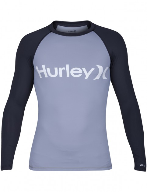 Hurley One & Only Long Sleeve Rash Vest in Wolf Grey
