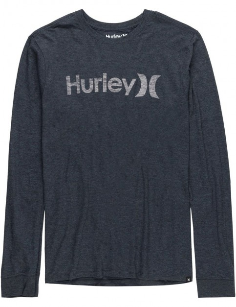 8a8e3366c7 Hurley One And Only Push Through Long Sleeve T-Shirt in Black W