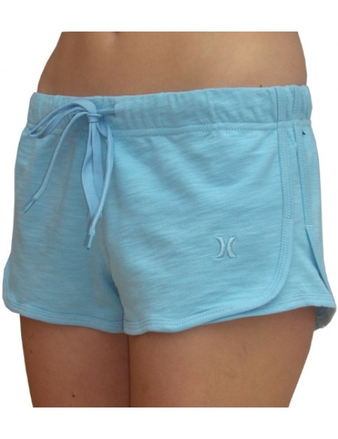 Hurley One and Only Shortie Sweat Shorts in Light Blue
