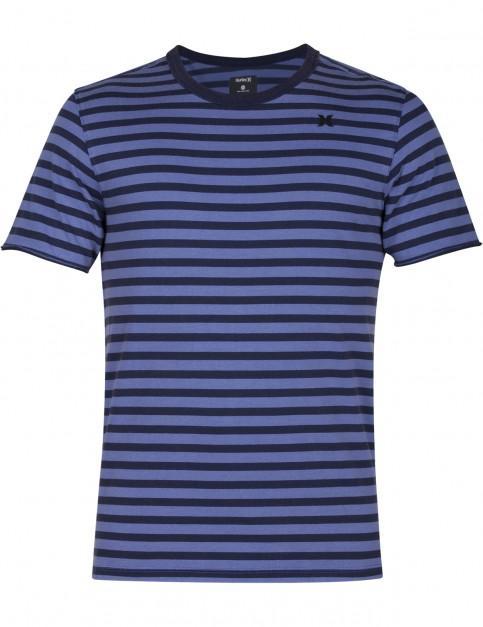 Hurley Surf Trip Crew Short Sleeve T-Shirt in Blue Moon