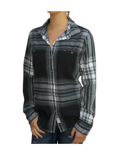 Hurley Wilson Long Sleeve Shirt in Black