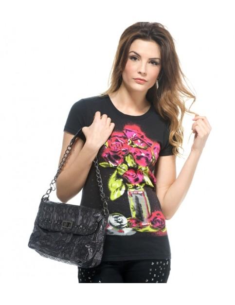 Iron Fist Rosebuds Short Sleeve T-Shirt in Black