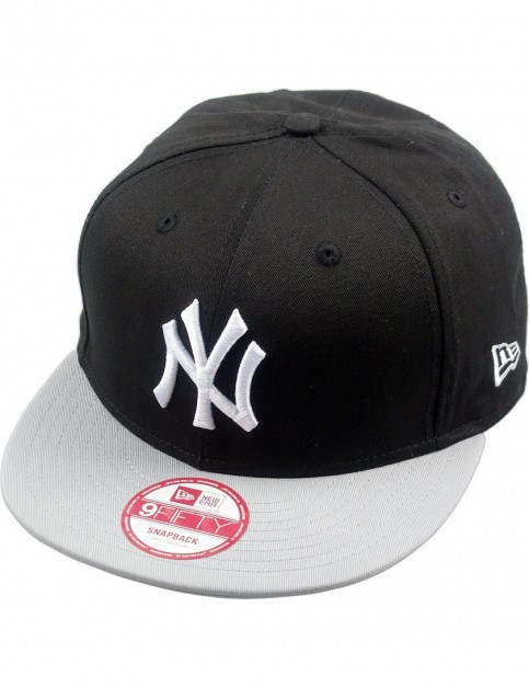New Era MLB Cotton Block NY Yankees Cap in Black/Grey/White
