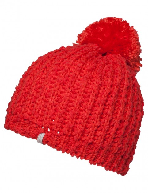 ONeill Bundle Up Bobble Hat in Lava Pink