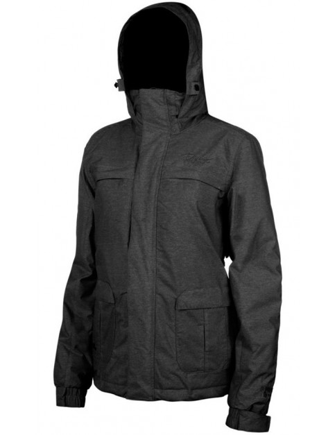 Protest Clipper Snow Jacket in Smoke Grey