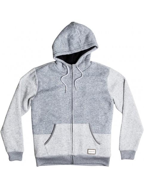 Quiksilver Keller Sherpa Hoody in Light Grey Heather