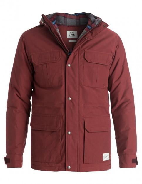 Quiksilver Long Bay Parka Jacket in Rosewood