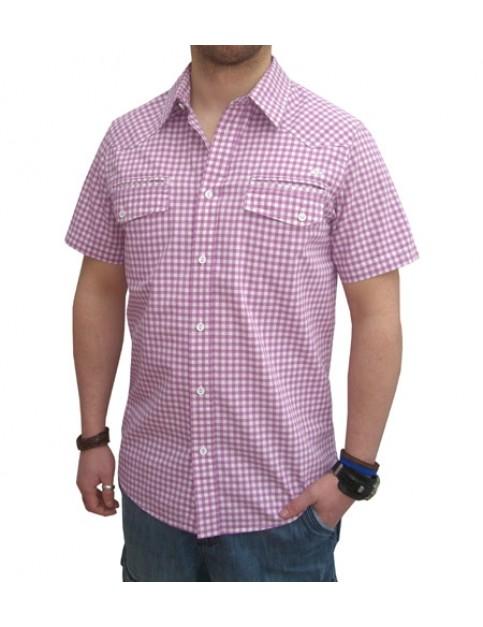 Quiksilver Malibu Short Sleeve Shirt in Cosmic Mauve