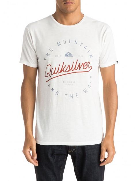 Quiksilver Scriptville Short Sleeve T-Shirt in Snow White