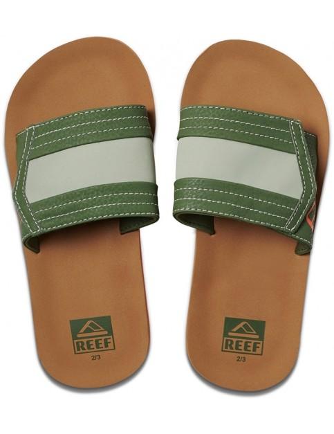 5403ac3ce Reef Kids Ahi Slide Sliders in Tan Olive