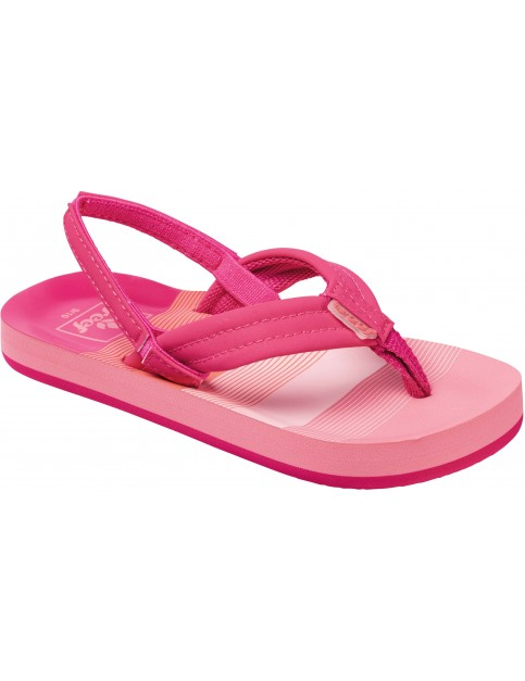 Reef Little Ahi Flip Flops in Pink/Stripes