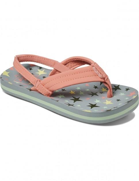 Reef Little Ahi Flip Flops in Twinkle Stars