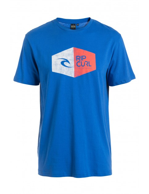 Rip Curl 3D Icon Short Sleeve T-Shirt in College Blue