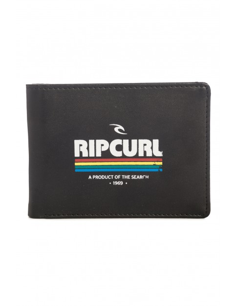 Rip Curl All Day Print Faux Leather Wallet in Black