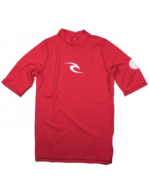 Rip Curl Ripcurl Corpo Short Sleeve Rash Vest in Red