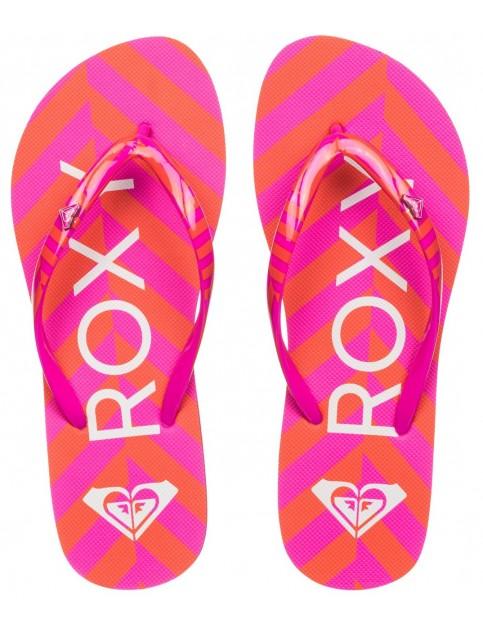 Roxy Mimosa V Flip Flops in Pink Stripe
