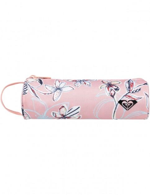 Roxy Off The Wall Teenie Pencil Case in Coral Almond Trellis Climb Swim