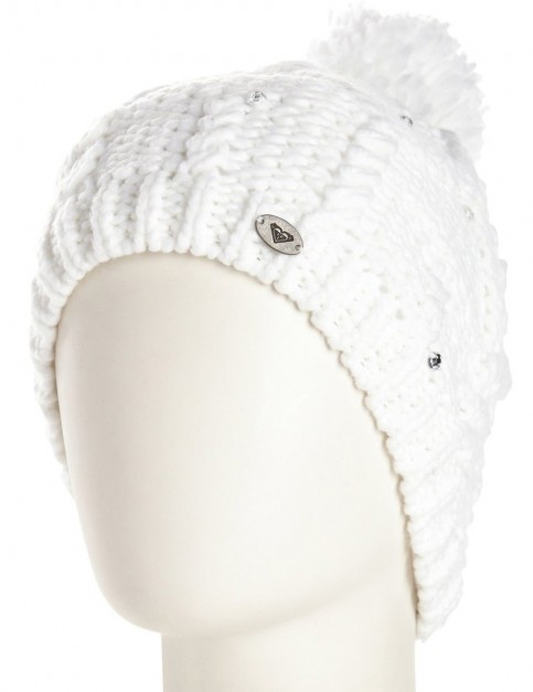 Roxy Shooting Star Bobble Hat in White