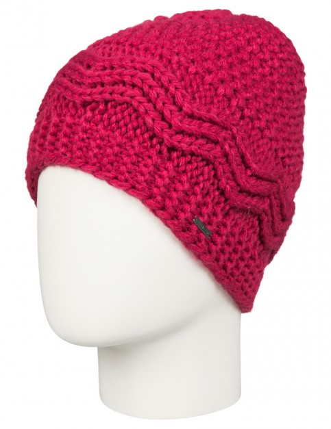 Roxy Stay Out Beanie in Sangria