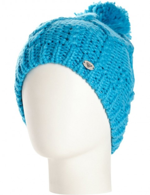 Roxy Shooting Star Bobble Hat in Blue