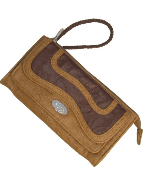 Rusty Gusto Faux Leather Wallet in Tan Brown
