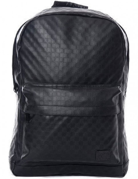 Spiral Blackout Checkerboard Backpack in Black