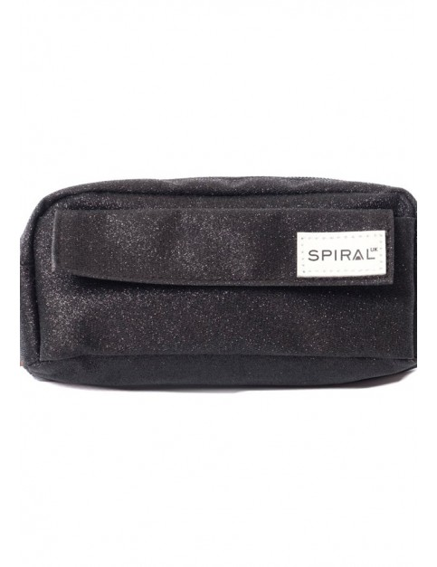 Spiral GLITTER PENCIL CASE Pencil Case in BLACK