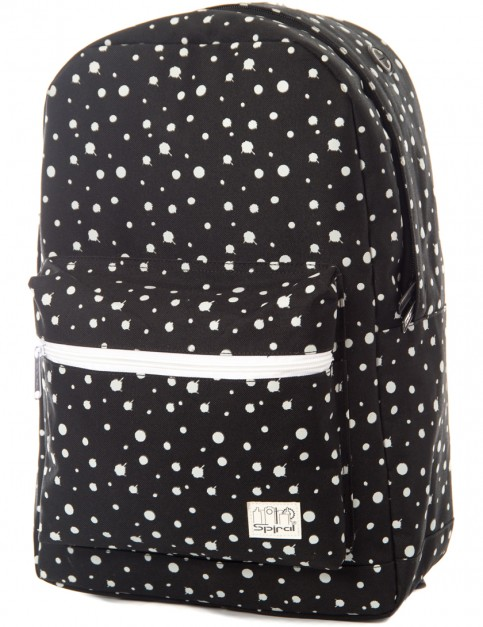 Spiral Glow in the Dark Backpack in Black