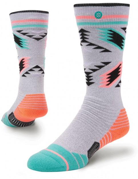 Stance Chick A Dee Girls Crew Socks in Grey