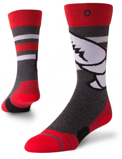 Stance Crab Grab Snow Socks in Red