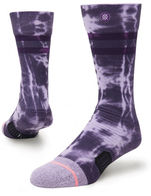 Stance Slideshow Girls Crew Socks in Violet