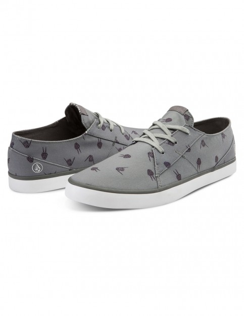 Volcom Lo Fi Deck Shoes in Worn Heather Grey