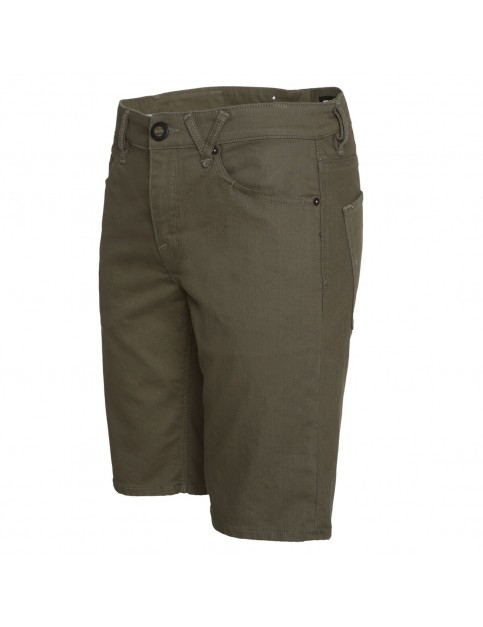 Volcom Solver Twill Chino Shorts in Old Blackboard
