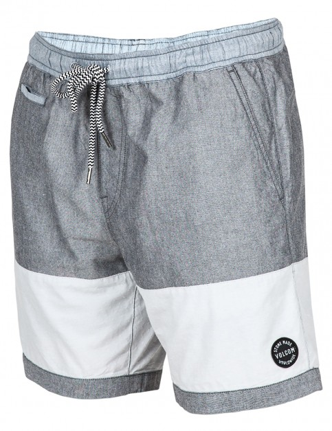 Volcom Threezy Jammer Elasticated Board Shorts in Black