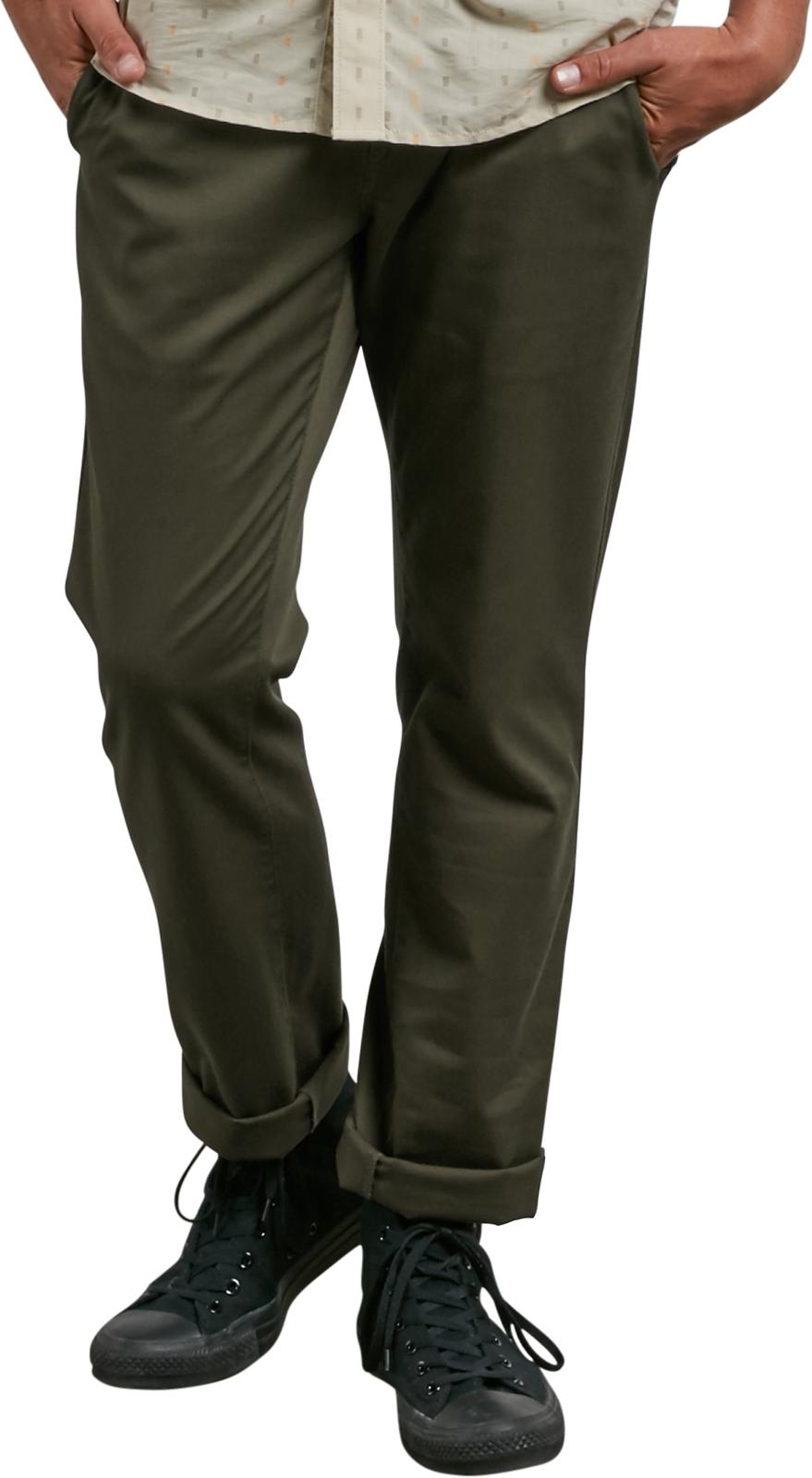 b6a99ca9 Volcom Frickin Modern Stret Chino Trousers in Seaweed Green | hardcloud.com