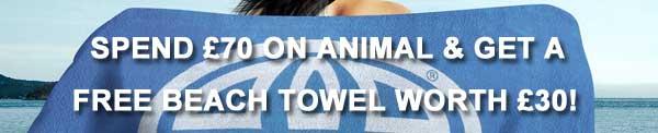 Animal Spend £70 Free Beach Towel